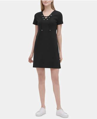 Calvin Klein Lace-Up Dress