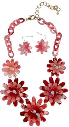 Ghome2 Celluloid Flower Necklace