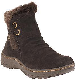 BareTraps Suede Water Resistant Ankle Boots w/ Faux Fur - Adalyn $84 thestylecure.com