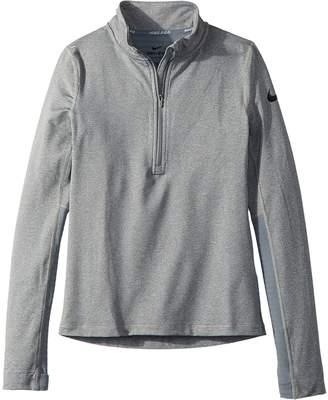 Nike Pro Warm 1/2 Zip Top Girl's Clothing