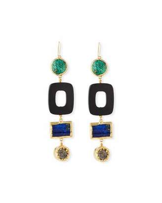 NEST Jewelry Turquoise & Black Horn Statement Earrings