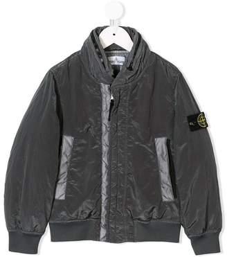 Stone Island Junior zipped collar jacket