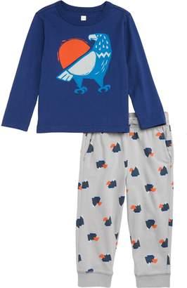 Tea Collection Eagle Graphic T-Shirt & Sweatpants Set
