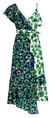Borgo de Nor Women's Leone Multi-Print Wrap Dress