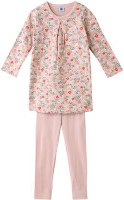 Petit Bateau (プチ バトー) - プチバトー 4歳 チュビックフラワープリントチュニックパジャマ