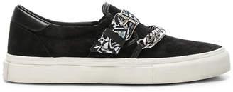 Amiri Bandana Suede Slip On Sneaker in Black | FWRD