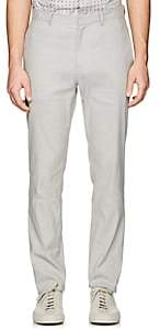 Theory MEN'S ZAINE LINEN-BLEND SLIM STRAIGHT TROUSERS-CHARCOAL SIZE 38