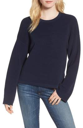 Willow & Clay Cutout Ribbed Sweater