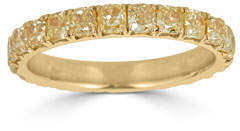 575 Denim ZYDO Limoncello 18k Gold & Yellow Diamond Eternity Ring, Size