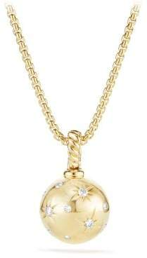 David Yurman Solari Pendant With Diamonds In 18K Gold