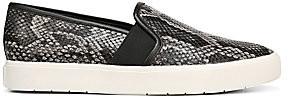 Vince Women's Blair Snakeskin-Embossed Leather Slip-On Sneakers