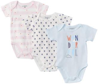 Petit Lem Baby 3Pk Diaper Shirt Set