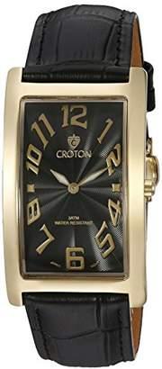 Croton Men's CN307533YLBK ARISTOCRAT Analog Display Quartz Black Watch