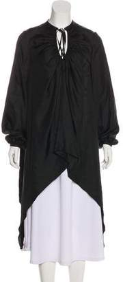 Thomas Wylde Silk Long Sleeve Tunic w/ Tags