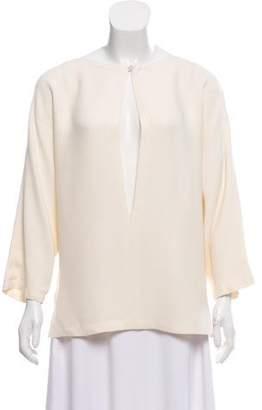 Valentino Long Sleeve Cutout Blouse