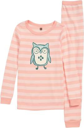 Tea Collection Wise Owl Fitted Two-Piece Pajamas
