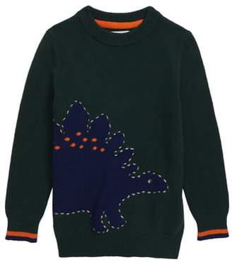 Boden Mini Dinosaur Graphic Crewneck Sweater
