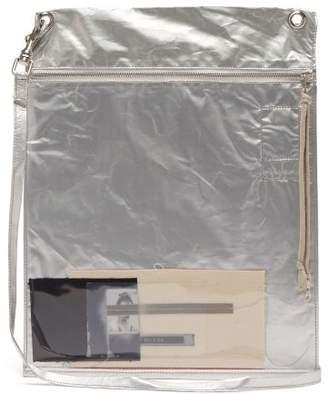 Rick Owens Plastic Photo Window Cross Body Bag - Mens - Silver