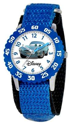 Cars Boys' Disney Stainless Steel Time Teacher with Bezel Watch - Blue