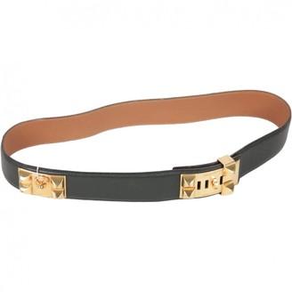 Hermes Collier de chien Green Leather Belts