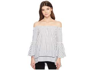 Romeo & Juliet Couture Off the Shoulder High-Low Blouse Women's Blouse