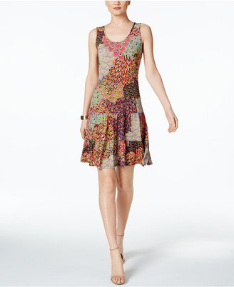 Msk Printed Drop-Waist Tiered Dress $69 thestylecure.com