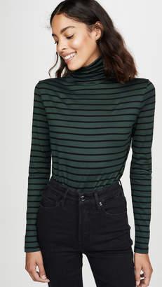 AG Jeans Chels Jersey Stripe Turtleneck