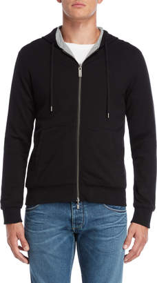 Armani Jeans Black Reversible Zip Hoodie