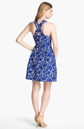 Mcginn Women's 'Serafina' Print Halter Dress, Size 6 - Blue