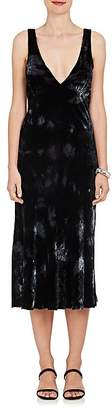Raquel Allegra Women's Tie-Dyed Velvet Midi-Dress