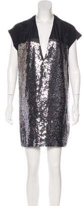 Stella McCartney Short-Sleeve Mini Dress