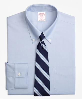 Brooks Brothers Stretch Madison Classic-Fit Dress Shirt, Non-Iron Button-Down Collar