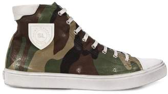 Saint Laurent camo print bedford high top sneakers