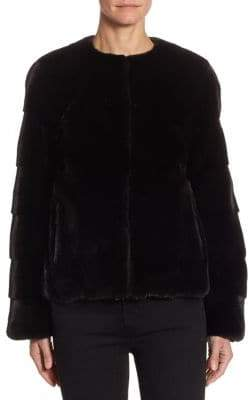 Julia & Stella Chevron Mink Jacket