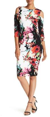 Jax Cold Shoulder Floral Print Dress