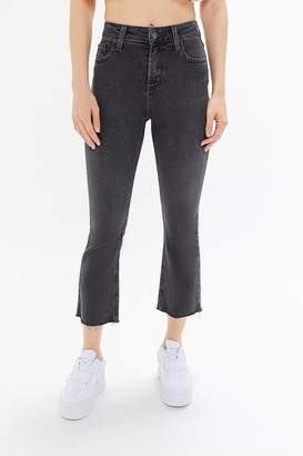 BDG High-Rise Cropped Kick Flare Jean - Black