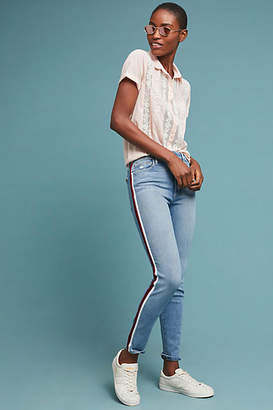 Joe's Jeans The Charlie High-Rise Striped Skinny Ankle Jeans