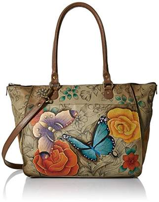 Anuschka Anna by Genuine Leather Large Tote | Hand-Painted Original Artwork |