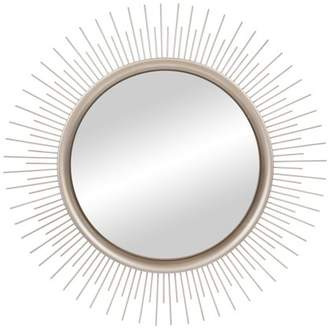 Patton Wall Decor Brushed Silver Sunburst Wall Accent Mirror
