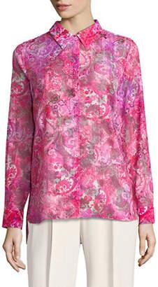 T Tahari Josella Printed Button-Down Shirt