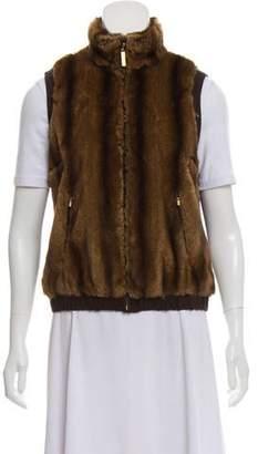 St. John Fur Vest
