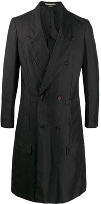Comme des Garcons double-breasted long coat