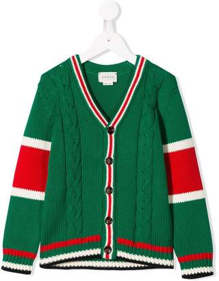 Gucci Kids colour-block fitted cardigan