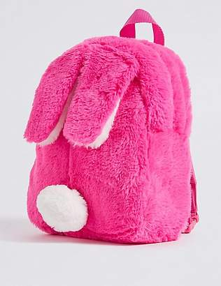 Marks and Spencer Kids' Faux Fur Bunny Backpack