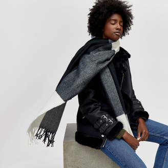 Warehouse Large Scale Check Scarf