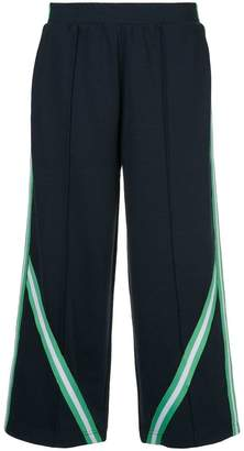 The Upside stripe detail cropped track trousers