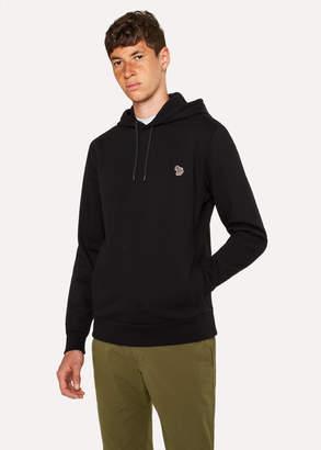 Paul Smith Men's Black Organic-Cotton Zebra Logo Hoodie