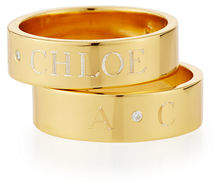 Sarah Chloe Ciela Personalized Ring with Diamond