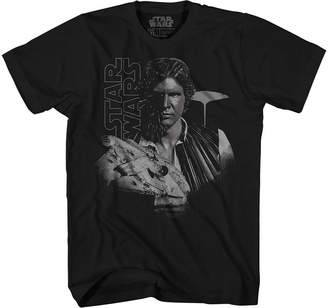 Star Wars Novelty T-Shirts Han Solo Lightspeed Graphic Tee