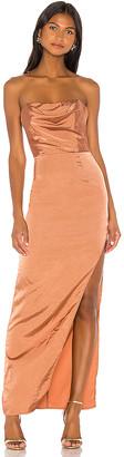superdown Farah Satin Maxi Dress